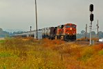 BNSF 5894 leads a empty oil train NB toward dupo il.