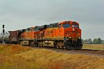 BNSF 5894 takes a oil train at tk speed NB.