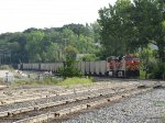 BNSF 6086 & 5864 roll into Wyoming Yard on the mainline with E945-31