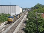 CSX 249 & 359 lead N911-31 over Godfrey with eastern coal loads