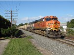 BNSF 5752 & 9808 lead the 130 coal loads of N956 east