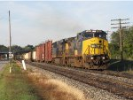 CSX 7357 leads Q326 east on Track 1