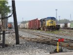 CSX 7790 & 717 sit in 4 Track with the inbound Q326 as N956 rolls through the Service Track after recrewing at the tower