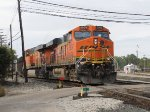 BNSF 5909 rolls out of the Service Track leading N956-20