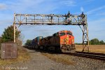 Westbound stack train with BNSF power