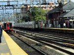 Northbound Amtrak and a Southbound Metro North train