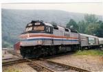 Amtrak Vermonter crossing the diamond