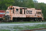 CSX 9501, what is left of it!