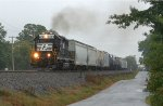 NS 6121 leading the local to Greenville