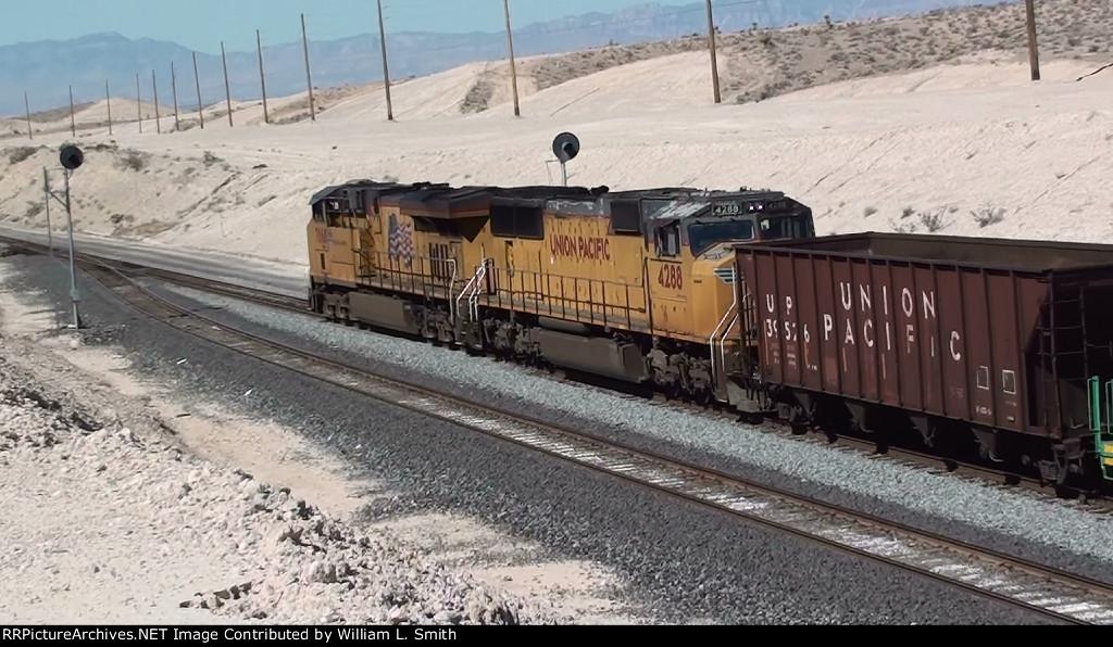 WB MOW Rail Train at Apex Summit NV - 4