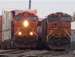 BNSF C44-9W 5531 & BNSF ES44DC 7343