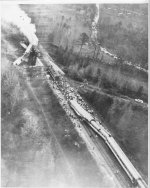 Overhead view of wreck scene looking north.
