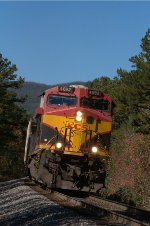 KCS 4692 southbound on 1.5 percent grade near MP365