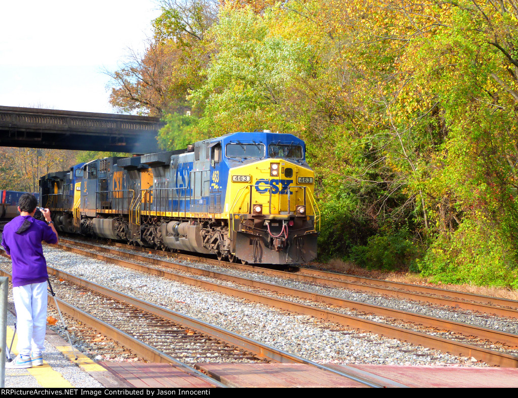 CSX Mixed at St Denis w/5 Engines