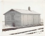 Illinois Central MOW shed at Hills