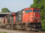 Two CN units blasting into Neenah