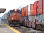 CSX ACE Pulls Trailer Train