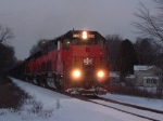 BLE 900 Heads South on this snowy night in December.