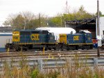 CSX 8817 and 1128