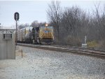 UP 3847 waits on the siding.