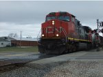 CN 2577 hits the crossing.
