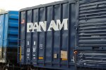 Newly Painted Pam Am Boxcar