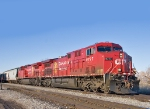CP 9777 & 8501 head for home after delevering a full load of Potash to Ogden, Utah
