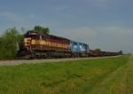 A VERY rare WC SD45 leads an NS work train