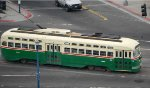 MUNI 1055 San Franciso Historic Trolley line
