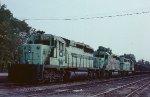 A loaded O&W train in the old Clinchfield RR yard.