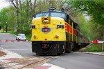 CVSR 6777 backs across Hickory St.