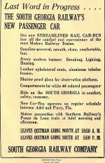 Newspaper notice of new Kalamazoo Railbus M-100 recevied in 1940.