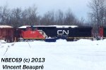 CN 2197 on the 403 Westbound
