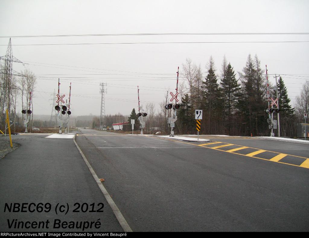 Brand New Crossing Milepost 121.72, Mont-Joli SUB.