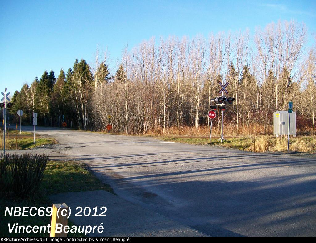 Crossing Milepost 126.13, Mont-Joli SUB.
