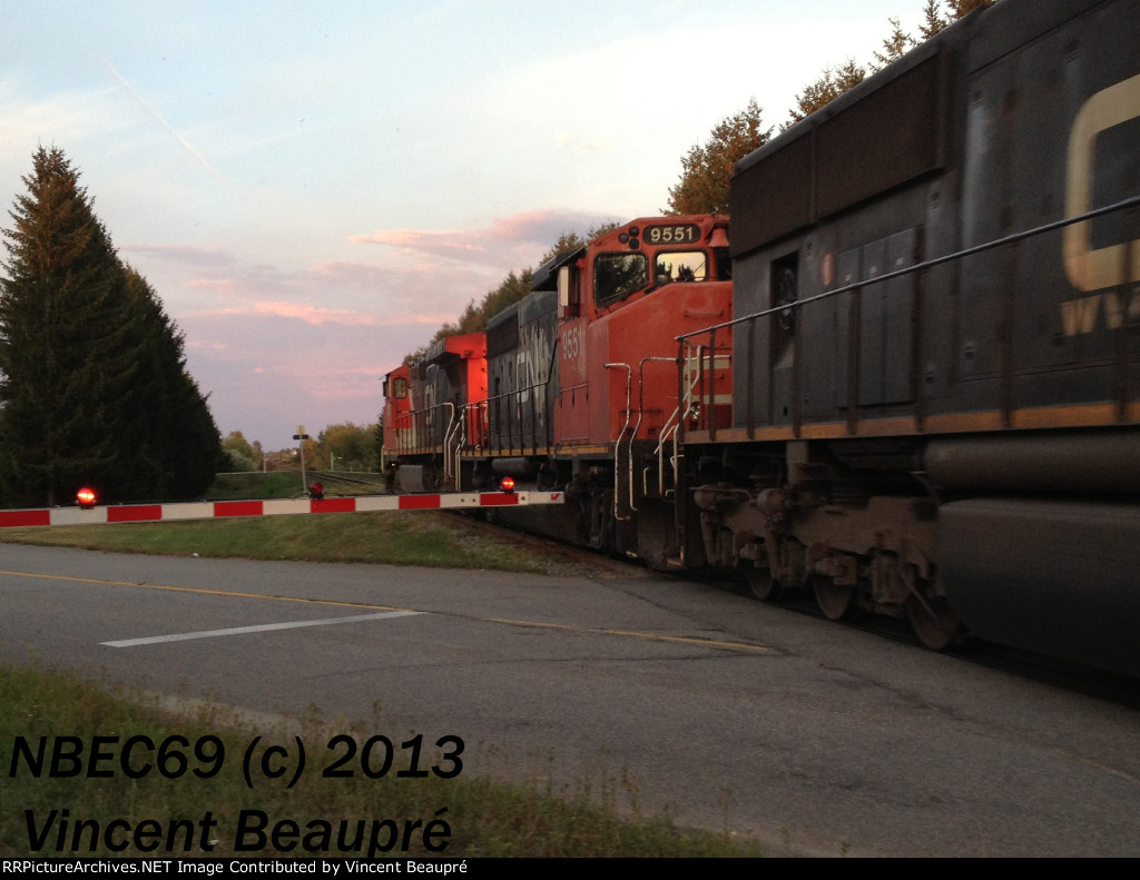 CN 9551 on the 402 East