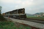SOU 7083 on Asheville bound freight