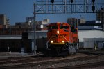 BNSF 9079 starts to slow down to enter the BNSF Yard at Lincoln, Ne.