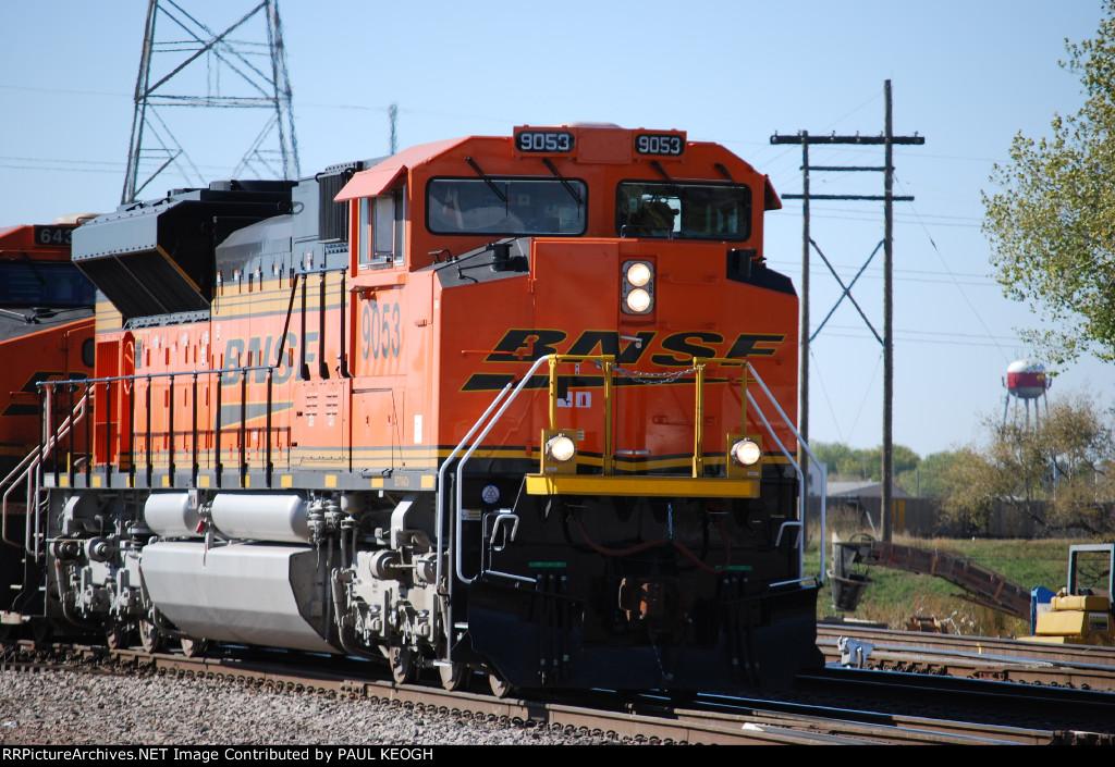 BNSF 9053 Leads a coal train towards BNSF Creston, IA./