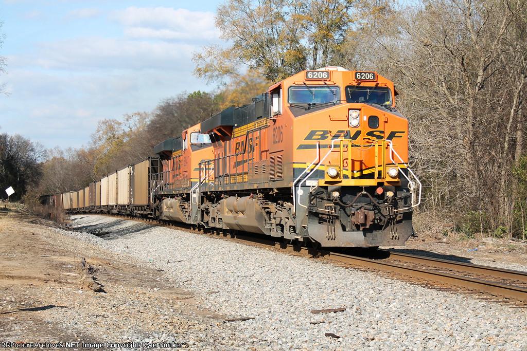 BNSF Scherer coal train NS #736