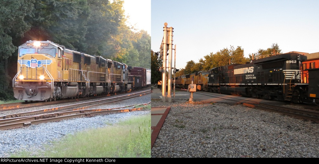 Union Pacific leading Norfolk Southern