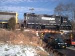 NS 5280 leads the Santa Train