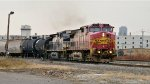 NS 316 Entering SK Yard with a rare Warbonnet on the Point!