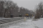 CSX 7707 and CSX 7894 in snow