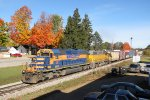 Z151-12 rolls south through Grant past some bright fall colors