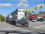 MMRR 24 rolls east through the Leonard/Plainfield intersection on its second trip of the day