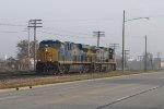 D801 heads west bound for pusher duty with power picked up at Wyoming