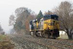 D801 heads away down the siding at a leisurely 20mph