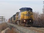 CSX 7874 leads 5 more units east with a lengthy Q326-17