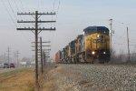 Q326-17 rolls east alongside Chicago Dr